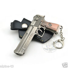 New Cross Fire Gun Desert Eagle Metal Military Pistol Keychain Hangings Favorite