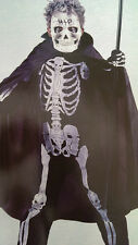 Boys halloween fancy dress up Scary Skeleton jumpsuit costume outfit