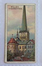 St Olai Church Reval Gems Of Russian Architecture 1917 Wills Cigarette Card (B4)