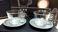 Nespresso Collection View Cappuccino Two Cups and Two Saucers Kosher Original