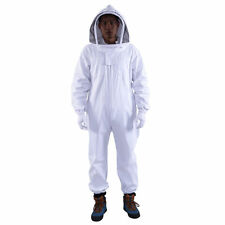 Full Body Professional Cotton  Beekeeping Bee Keeping Suit + Veil Hood