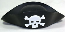 Vintage '80s PIRATE HAT Skull Crossbones Buccaneer Cosplay Costume Fancy Dress