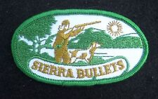 SIERRA BULLET SEW ON ONLY PATCH AMMUNITION FIREARM HUNTING 3 1/2 x 2""