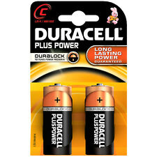 Duracell MN1400PLUS-B2 Plus Alkaline Battery C Size - Long Lasting Power - UK