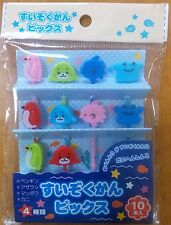 Cute Sea Creature Food Picks for Japanese Bento Lunch Box Seal Crab Penguin Fish