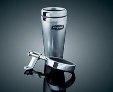 Kuryakyn - 1792 - Univ Mirror Mounted Drink Holder w/Stainless Steel Mug