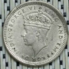 *GOOD Grade* 1945 - Malaya - 5 Cents George VI Silver #CNH