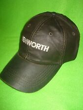KENWORTH TRUCKER'S HAT:   OILCLOTH BROWN KENWORTH CAP      *FREE SHIPPING*
