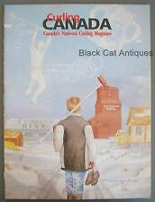 Original 1992-1993 Edition Curling Canada Canada's National Curling Magazine