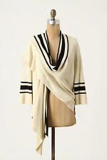 NEW ANTHROPOLOGIE SPARROW SABLE TRIMMED CARDIGAN SZ L LARGE