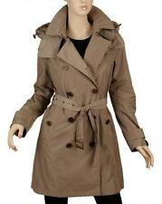 NEW BURBERRY CURRENT SISAL TAFFETA TRENCH COAT WITH DETACHABLE HOOD 44/10