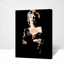 "Wood Framed DIY Paint By Number 16""*20"" kit Beauty Marilyn Monroe On Canvas"