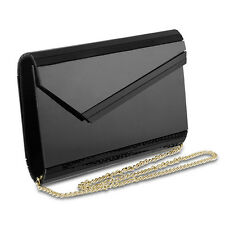 Ladies Purse women handbag Night Clutch shoulder bag Detachable Chain Black new