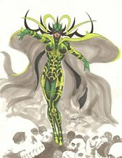 Hela Color Commission - Signed art by Daniel Horn de Rosa