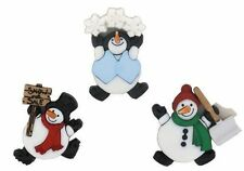 Christmas Roly Poly Snowmen BUTTONS