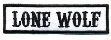 Lone Wolf patch badge car club motorcycle biker MC vest jacket white black