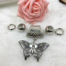 Details about  Fashion DIY Necklace Jewelry Scarf Butterfly pendant set Charms