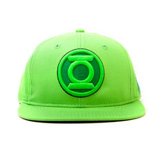AWESOME DC COMICS GREEN LANTERN SYMBOL BRIGHT GREEN SNAPBACK CAP HAT *BRAND NEW