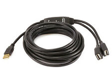 16ft 2 Port USB 2.0 A Male to A Female Active Extension / Repeater Cable  8489