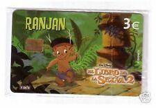 Carta telefonica Spagna  Disney Il Libro della Giungla 2 Ranjan in blister