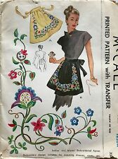 Vintage McCalls #1239 Apron Printed Sewing Pattern with Transfer One Size