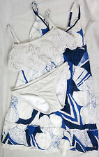 Hollister Small Xhilaration Fringe Lace Bikini Dress Lot Womens White Swimsuit S