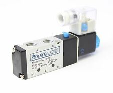"1/4"" Inch 4 Way 2 Position Single Electric Solenoid Pneumatic Valve 1/4"" 110V AC"