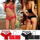Sexy Hot Lady Lace Lingerie Underwear Nightwear Sleepwear Babydoll Bra G-String