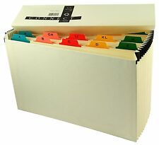 Expanding Cream 19 Pocket A-Z Indexed Concertina Box File KF04091 SENT SAME DAY