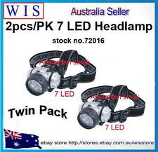Twin Pack 7 LED Headlamp with Adjustable Head Strap,Super Bright-72016