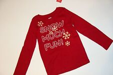 Gymboree Holiday Penguin Chalet Girls Size 4 Snowflake Snow Much Fun Top NWT