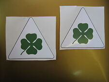 ALFA ROMEO cloverleaf car stickers x2