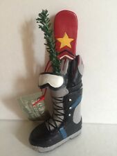 """Midwest Cannon Falls Acrylic Black Grey Ski Boot Goggles Gloves Board 4.5"""" tall"""