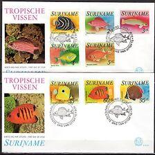 Suriname - 1976 Fish - Mi. 722-29 clean FDC's