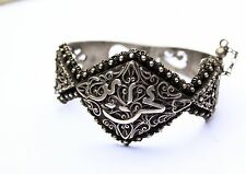 Solid silver French Hallmarked Islamic North African filigree Bracelet Maghreb