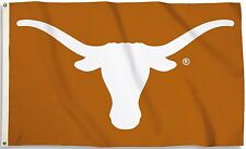 Texas Longhorns 3' x 5' Flag (Logo Only on Burnt Orange) NCAA Licensed
