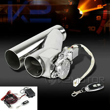 "3.0"" Electric Exhaust Downpipe Cutout E-Cut Out Valve System Remote Set"