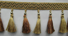 "Tassel Fringe with Bead Curtain Braid 4"" 11.5cm"
