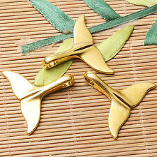 4pcs dark gold tone The whale s tail charms EF2606