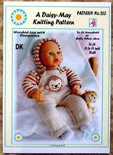 1 DOLLS KNITTING PATTERN by DAISY-MAY  ANNABEL No.283 16 to 18 inch doll