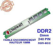 Mémoire 1GO DDR2 PC2-5300 Kingston KVR667D2N5/1G 240PIN 667Mhz 18MM