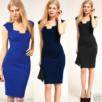 New Women's Smart Celebrity Style Casual DHD Bodycon Pencil Dress UK size 8-16