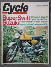 1969 JUNE CYCLE MAGAZINE SUZUKI SWIFT CLYMER VELO 500 HONDA KAWASAKI MOTORCYCLE