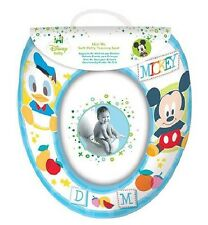 Disney Mickey Mouse 'Blue' Kids Padded Toilet Seat Soft Potty Training