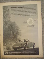 1960 MG MGA1600 VINTAGE CAR AD-NOT A REPRODUCTION