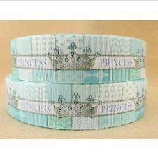 "1 meter, 25mm, 1"" Princess Crown Printed grosgrain ribbon gift birthday ribbon"