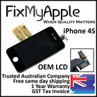 iPhone 4S Black Front Glass Touch Screen Digitizer OEM LCD Assembly Replacement