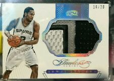 KAWHI LEONARD 2014-15 Panini FLAWLESS GAME USED JUMBO PATCH #/20 SPURS
