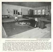 1917 Ensuring Accuracy In A Factory Where Us Government Flags Are Made