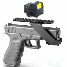 Tactical 21mm Pistol Rail Picatinny Weaver Mount + Holographic Dot Sight Scope